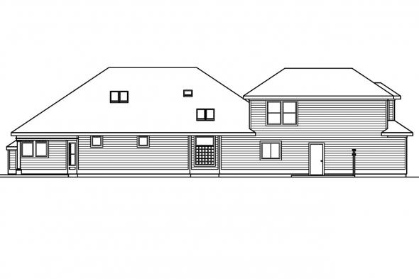 Traditional House Plan - Newark 30-182 - Left Elevation