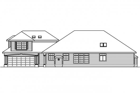 Traditional House Plan - Newark 30-182 - Right Elevation
