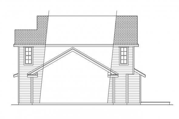 Traditional House Plan - Newberg 10-138 - Right Elevation