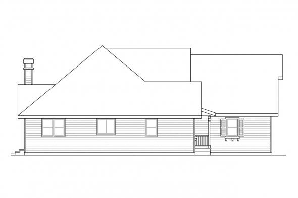 Traditional House Plan - Norkenzie 50-006 - Left Elevation