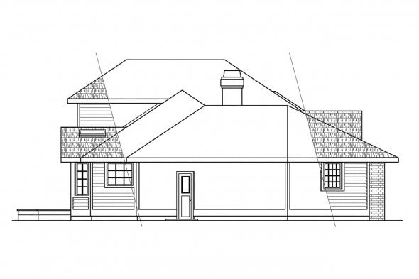 Traditional House Plan - Normandy 10-050 - Left Elevation