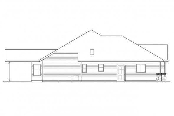 Traditional House Plan - Oak Hill 30-810 - Left Elevation
