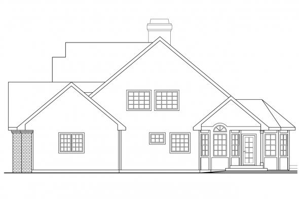 Traditional House Plan - Oakheart 10-400 - Right Elevation