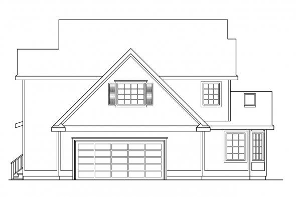 Traditional House Plan - Olympia 10-210 - Right Elevation