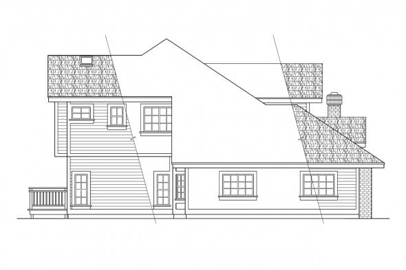 Traditional House Plan - Parker 30-002 - Left Elevation