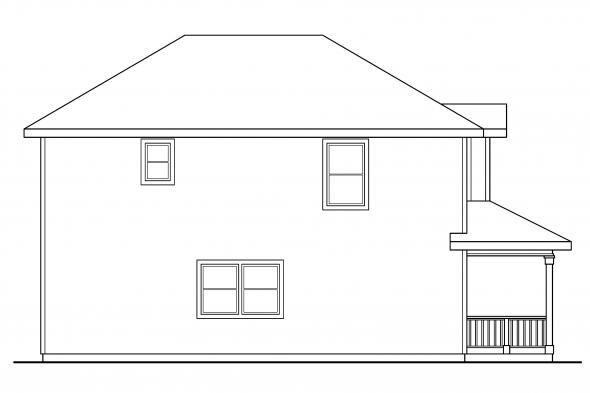 Traditional House Plan - Patterson 30-117 - Left Elevation