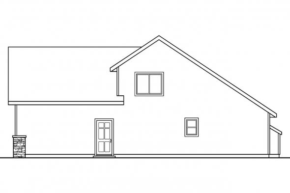 Traditional House Plan - Radbourne 30-562 - Right Elevation