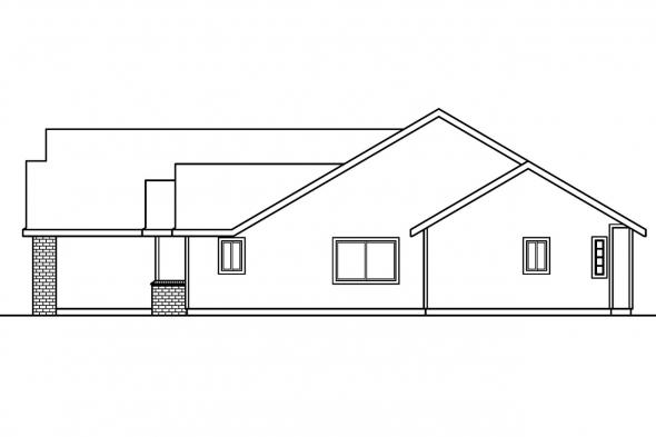 Traditional House Plan - Rollins 30-330 - Right Elevation