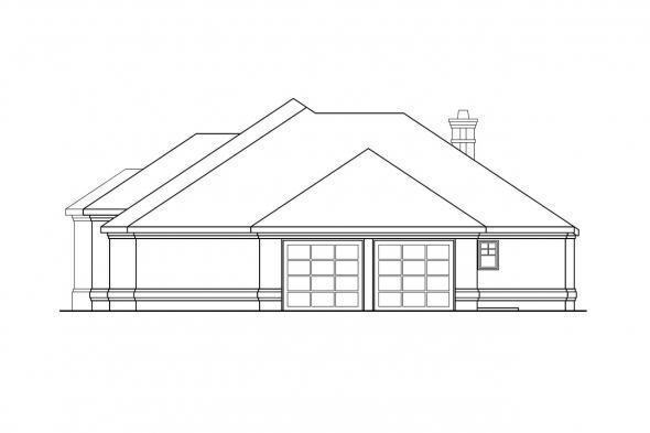 Traditional House Plan - Rosewood 10-402 - Right Elevation