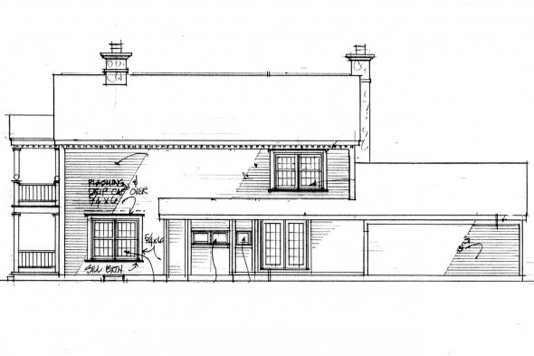 Traditional House Plan - Rossford 42-006 - Rear Elevation