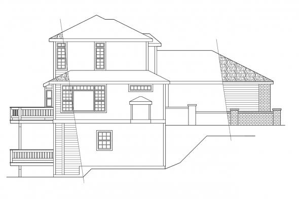 Traditional House Plan - Samuel 30-026 - Left Elevation