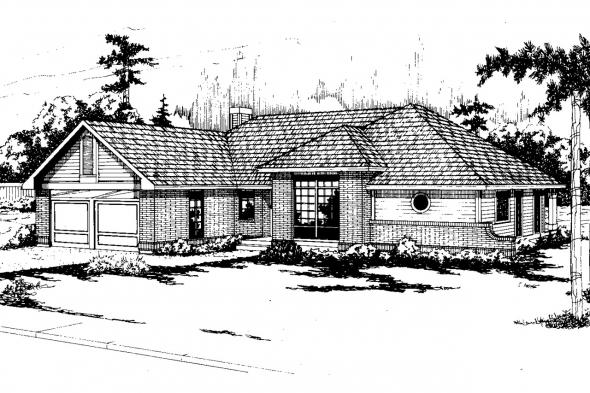Traditional House Plan - Sarasota 10-058 - Front Elevation