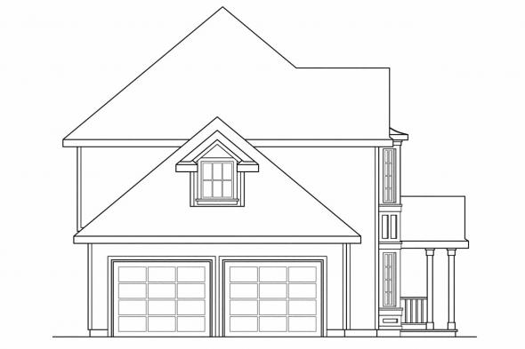 Traditional House Plan - Sedgewicke 30-094 - Left Elevation
