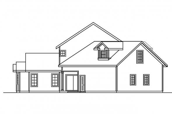 Traditional House Plan - Shaffer 30-453 - Left Elevation