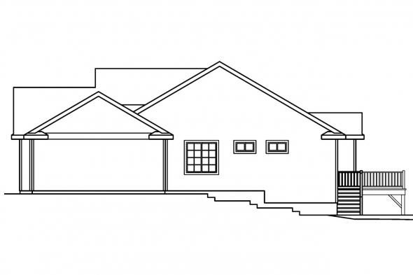 Traditional House Plan - Shreveport 30-231 - Right Elevation