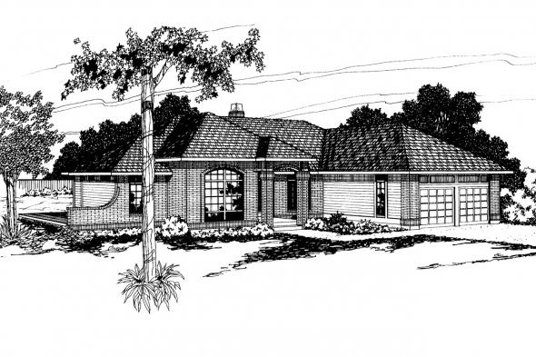 Traditional House Plan - Somerset 10-057 - Front Elevation
