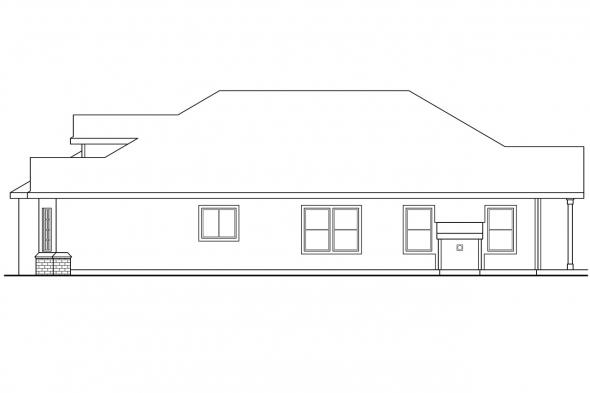 Traditional House Plan - Springdale 30-155 - Right Elevation