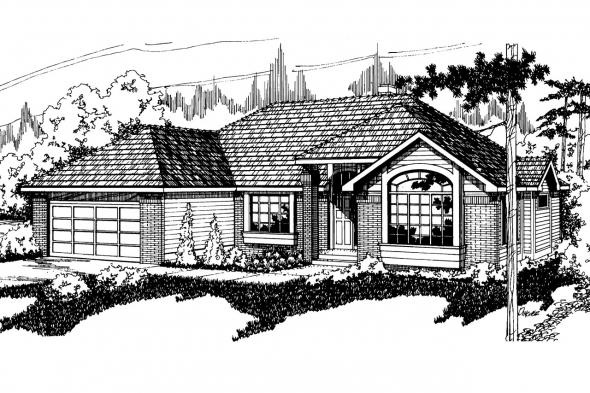 Traditional House Plan - Stayton 10-040 - Front Elevation