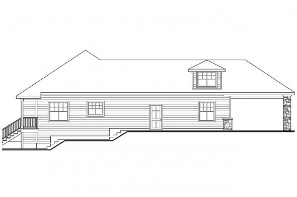 Traditional House Plan - Stonechase 11-133 - Left Elevation