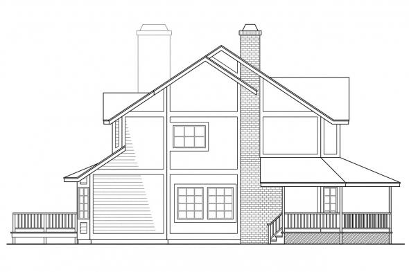 Traditional House Plan - Thompson 10-018 - Right Elevation