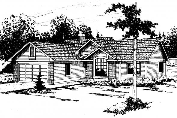 Traditional House Plan - Ventura 10-063 - Front Elevation