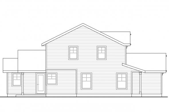 Traditional House Plan - Wendover 30-558 - Left Elevation