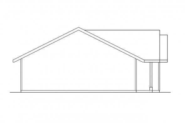 Traditional House Plan - Weston 30-085 - Left Elevation