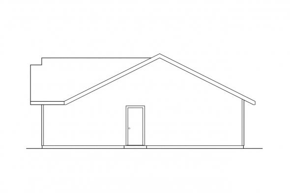 Traditional House Plan - Weston 30-085 - Right Elevation