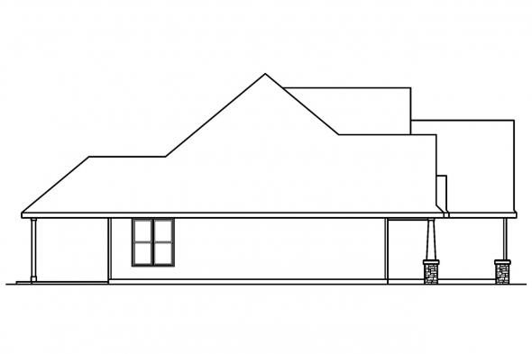Traditional House Plan - Whitehaven 30-431 - Left Elevation