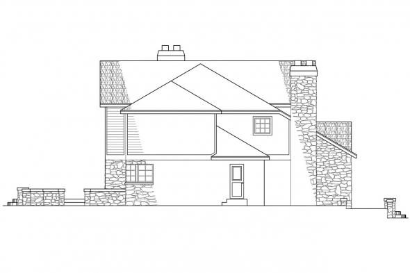 Tudor House Plan - Ashton 10-065 - Left Elevation