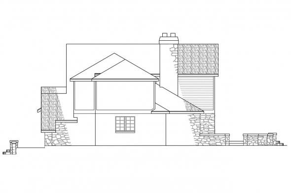Tudor House Plan - Ashton 10-065 - Right Elevation