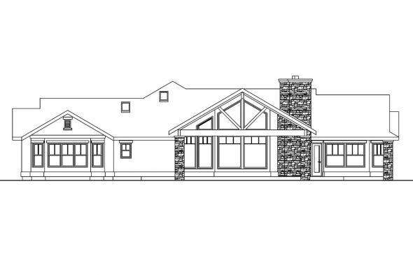 Tuscan House Plan - Burnside 30-657 - Left Elevation