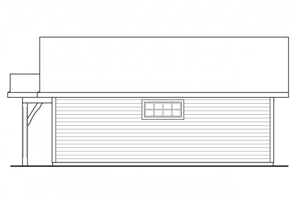 Two Car Garage Design 20-222 - Right Elevation