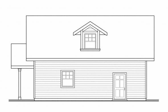 Two Story Garage Plan 20-024 - Right Elevation