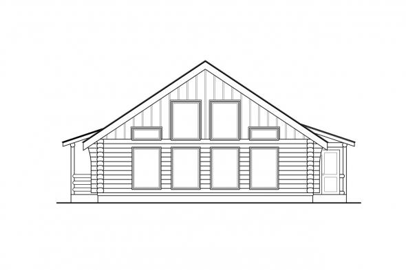 Vacation Home Plan - Clarkridge 30-267 - Right Elevation