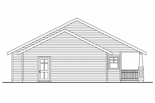 Vacation Home Plan - Karsten 30-590 - Rear Elevation