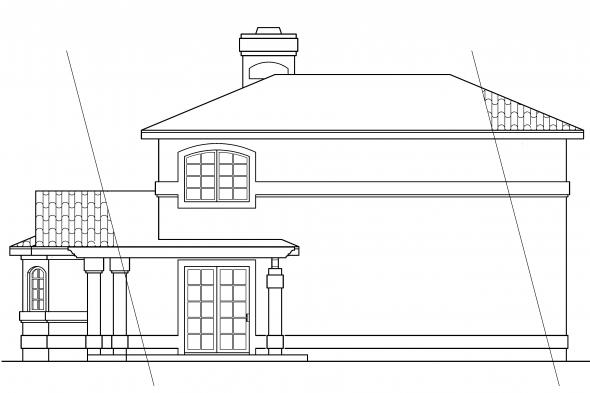 Vacation Home Plan - Lauderdale 11-037 - Rear Elevation