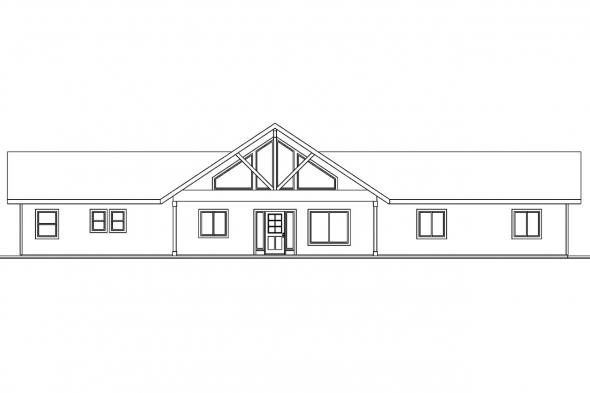 Vacation Home Plan - Ottawa 30-601 - Rear Elevation