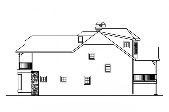 Vacation Home Plan - Sherbrooke 30-371 - Right Elevation