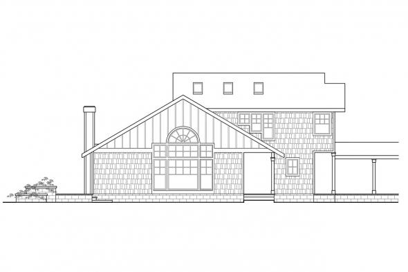 Vacation Home Plan - Fairview 51-008 - Rear Elevation