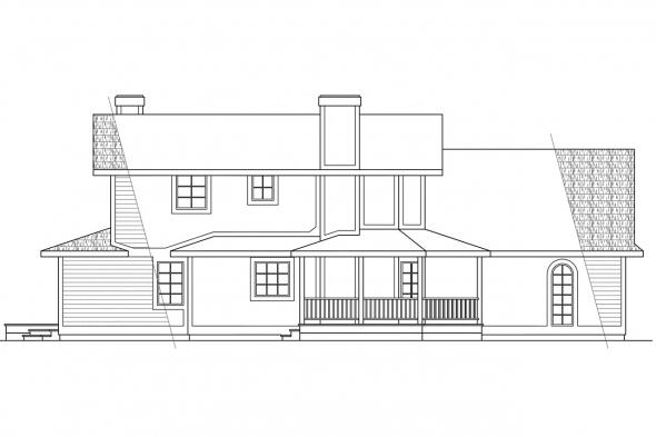 Victorian House Plan - Freemont 10-006 - Left Elevation