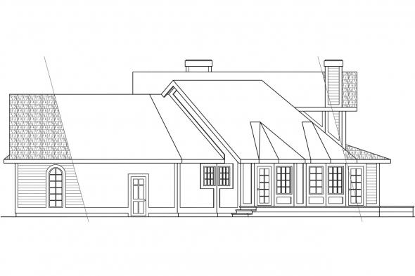 Victorian House Plan - Freemont 10-006 - Right Elevation