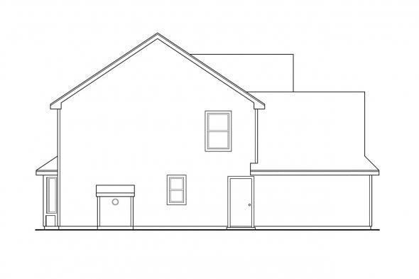 Victorian House Plan - Hudson 30-086 - Left Elevation