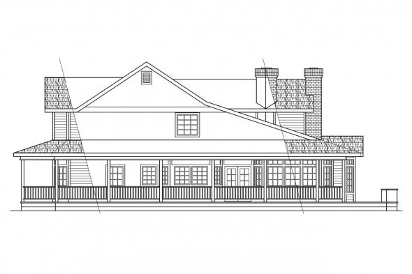 Victorian House Plan - Shelburn 30-035 - Right Elevation