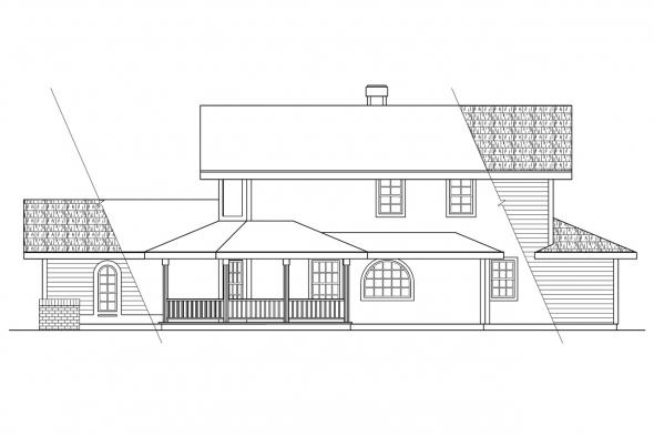 Victorian House Plan - Trinity 10-211 - Right Elevation