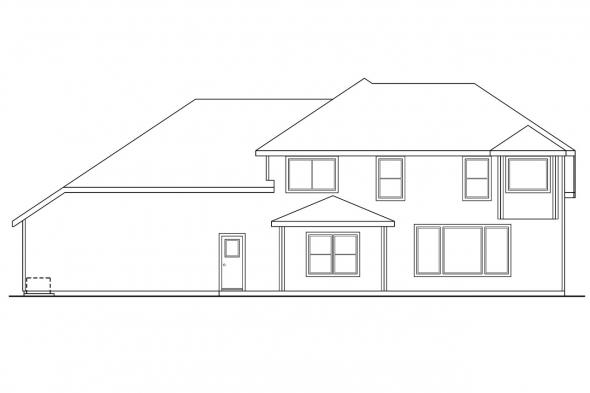 View Lot House Plan - Arolee 30-142 - Rear Elevation