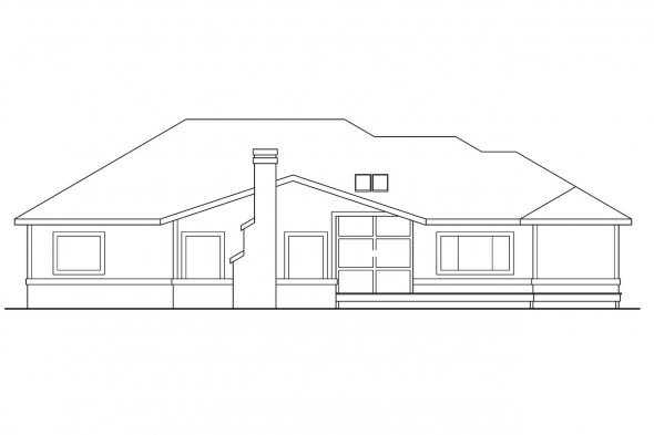 View Lot House Plan - Bridgewater 10-253 - Rear Elevation