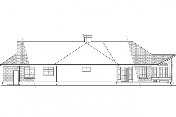 View Lot House Plan - Camrose 10-007 - Rear Elevation
