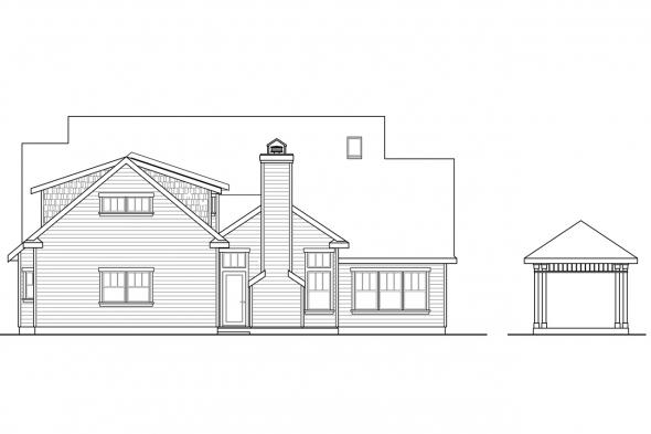 View Lot House Plan - Coburg 30-637 - Rear Elevation