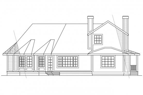 View Lot House Plan - Freemont 10-006 - Rear Elevation